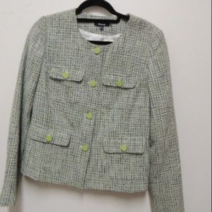 Premise Size 8 Tweed Lined Long Sleeve Jacket NEW